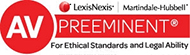 AV Preeminent Peer Review Rating by LexisNexis Martindale-Hubbell