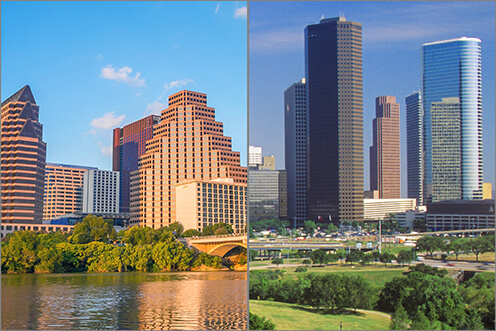 The firm establishes a presence in Texas, with offices in both Austin and Houston, and develops a nationally recognized Environmental and Workplace Safety practice.