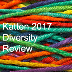 Katten 2017 Diversity Review with different-colored yarn in background